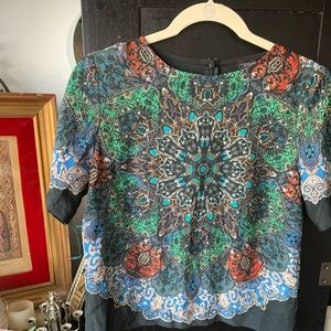 TOPSHOP Boho gorgeous blouse with zip back